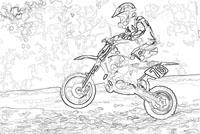 Site officiel de tact moto passion - Comment dessiner une moto cross ...